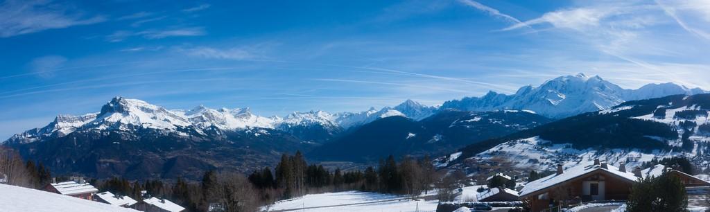 Massif du Mont Blanc depuis Combloux