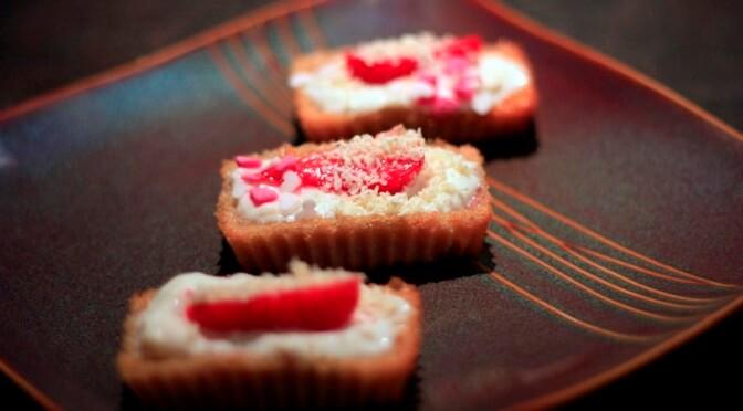 Cupcakes aux fraises et au chocolat blanc